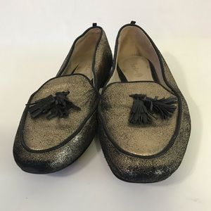 Boden Ines Black/Gold Loafers